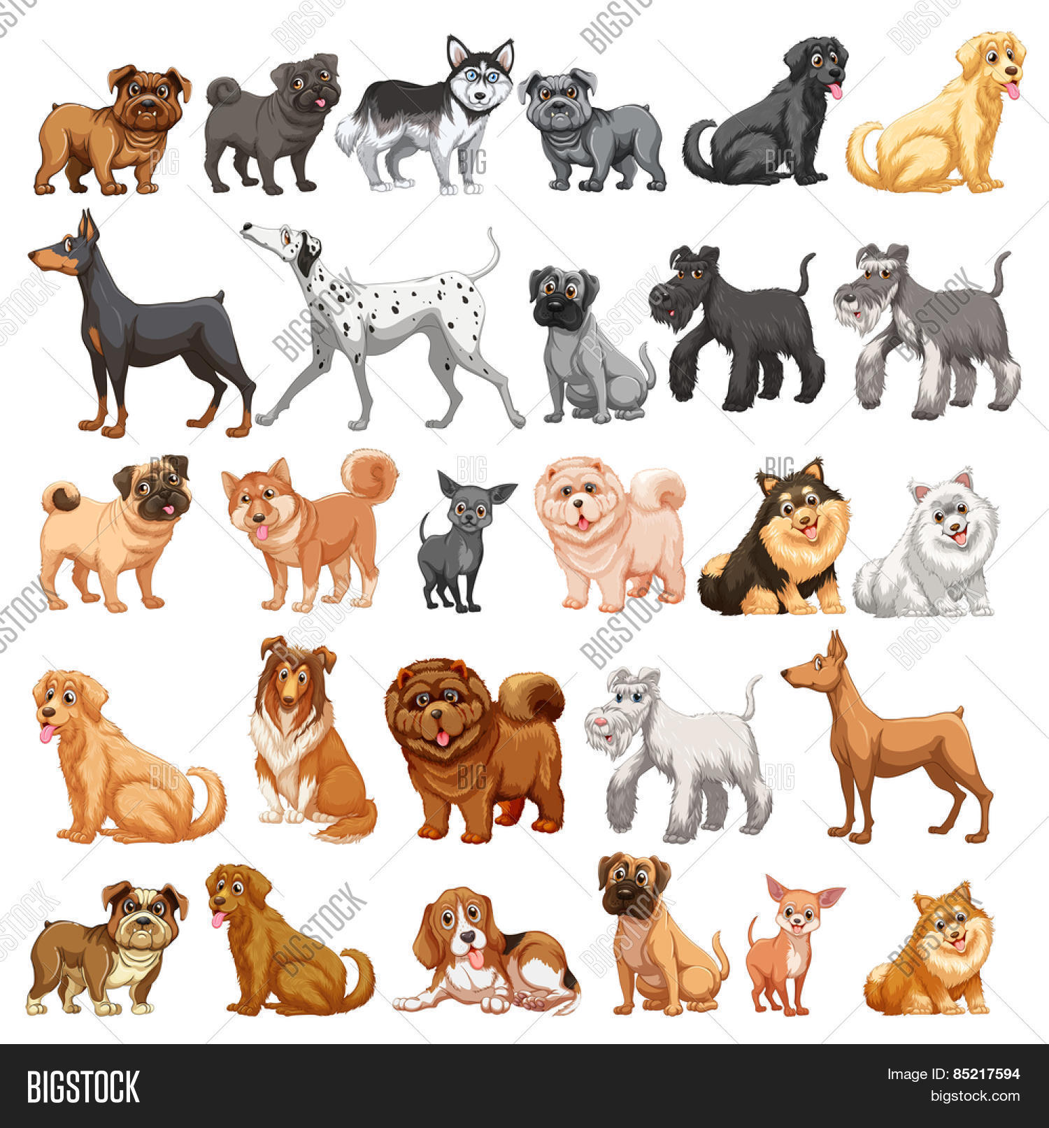 Different Type Dogs Vector Amp Photo Free Trial
