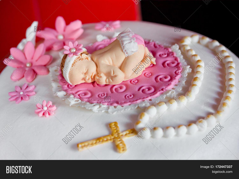 Christening Cake Baby Image Photo Free Trial Bigstock