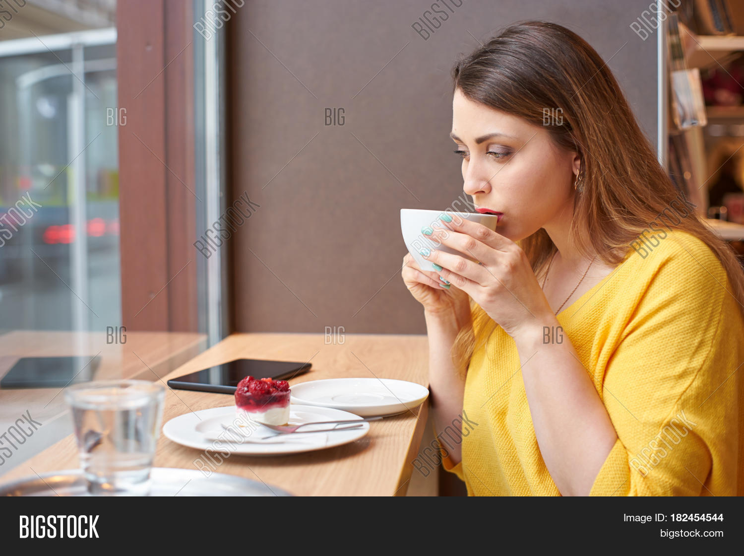 Young Woman Taking Sip Image & Photo (Free Trial) | Bigstock
