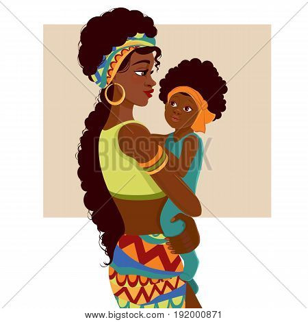 African American Mom Baby Images Illustrations Amp Vectors