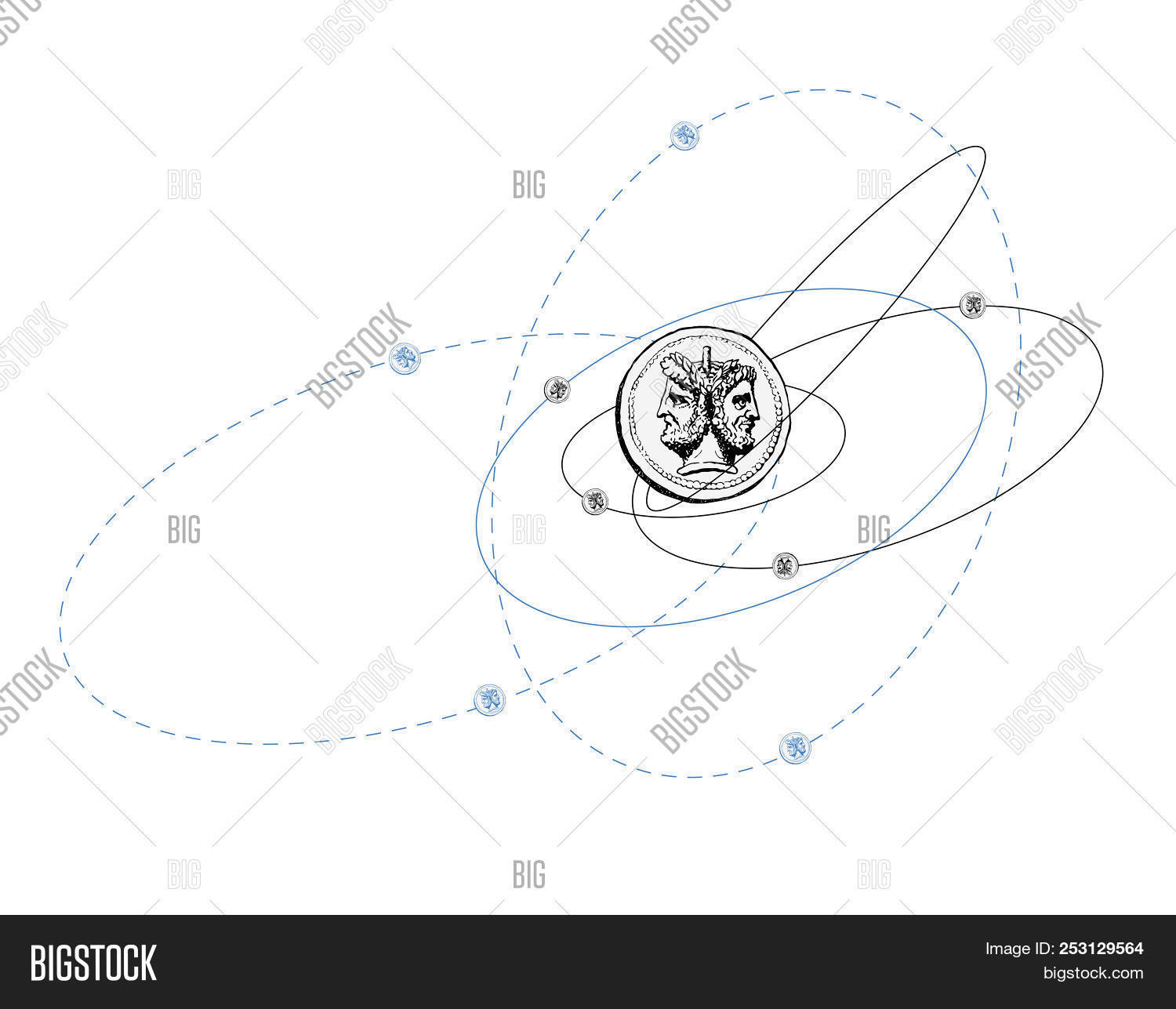 hight resolution of quantum mechanics the corpuscular wave duality of elementary particles humorous illustration mad