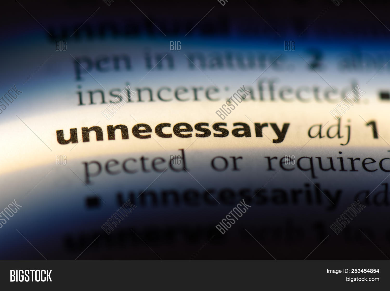 Unnecessary Word Image & Photo (Free Trial) | Bigstock