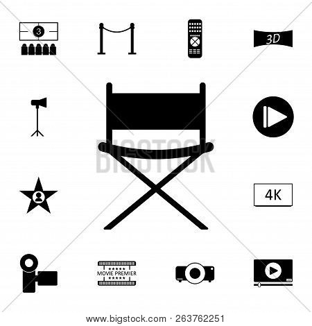chair design icons big folding 6 cup holders directors icon vector photo free trial bigstock detailed set of cinema premium quality graphic
