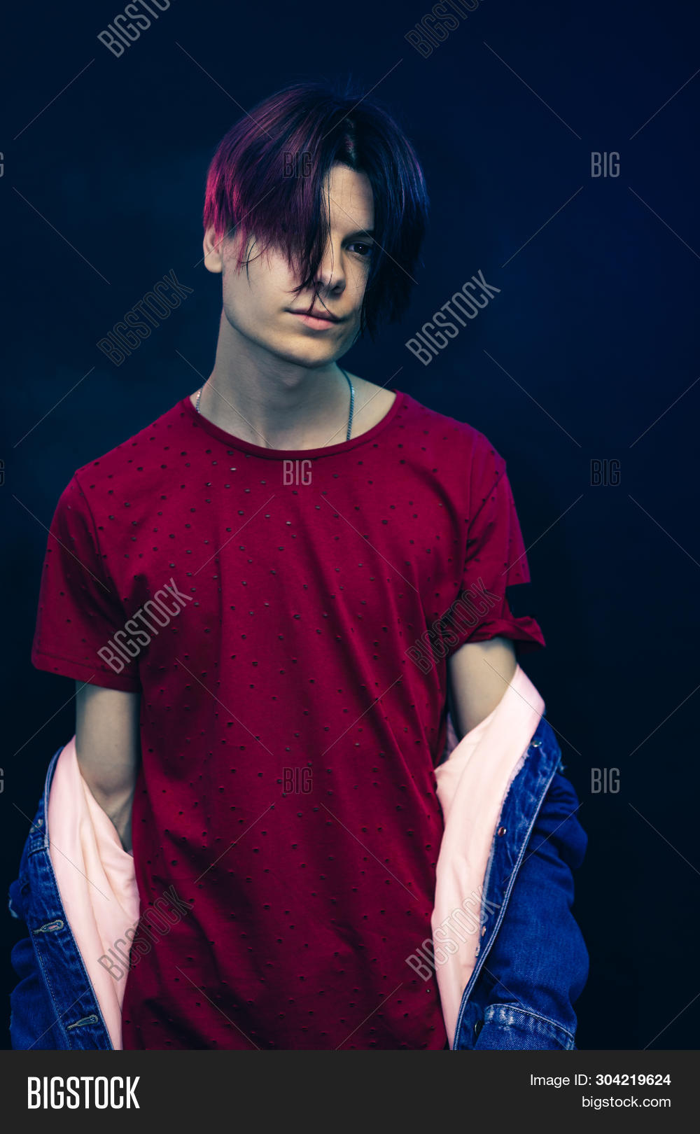 Red And Black Hair Boy : black, Young, Black, Image, Photo, (Free, Trial), Bigstock