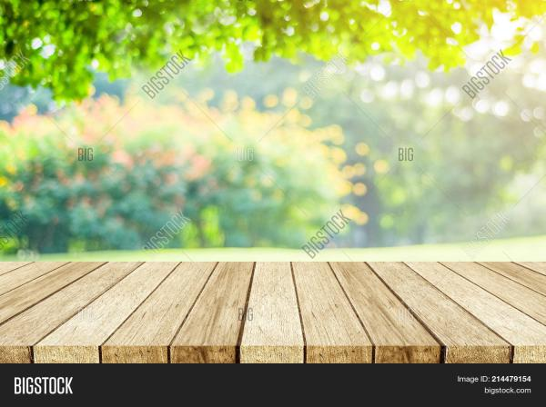 Empty Wooden Table Image Photo Free Trial Bigstock
