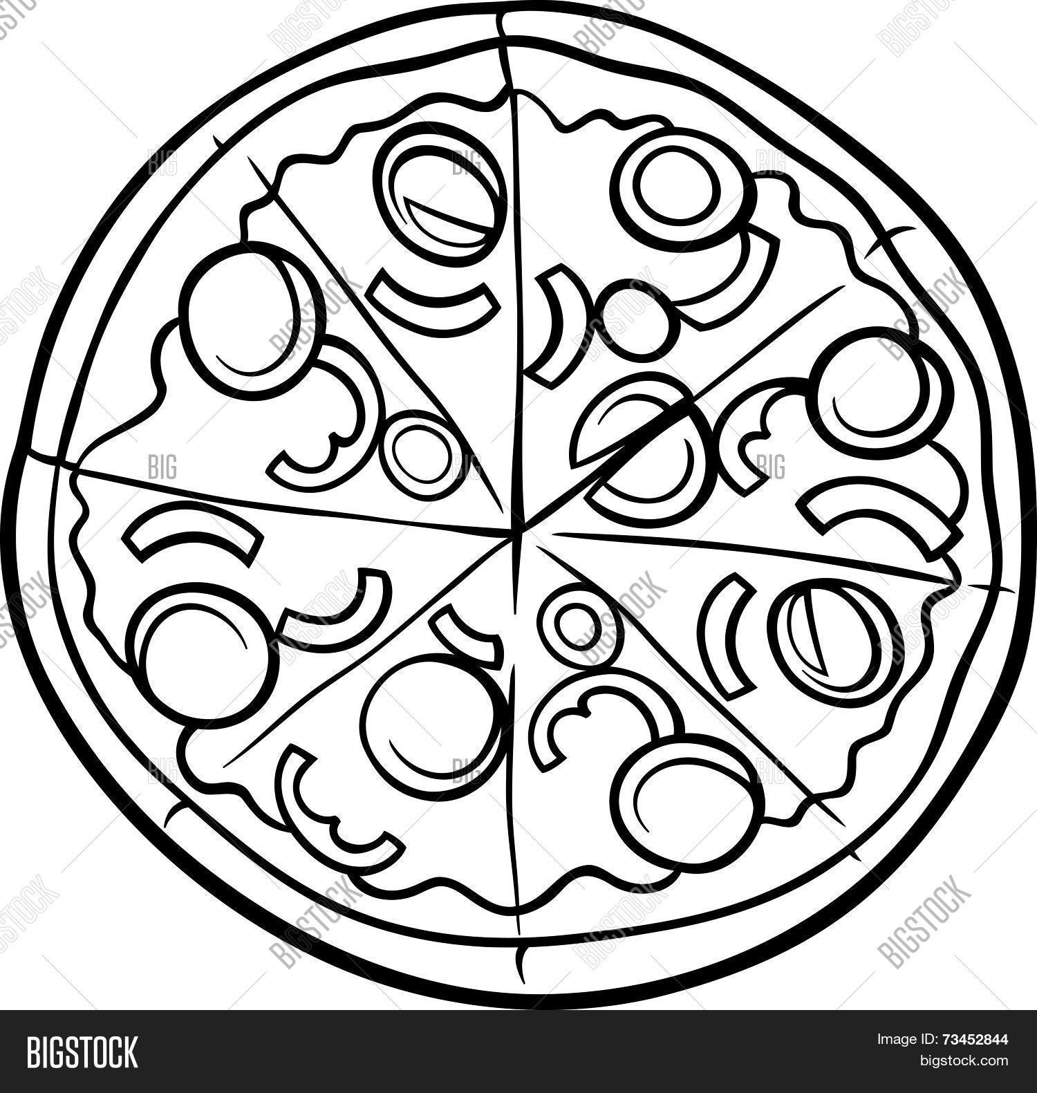 Italian Pizza Cartoon Vector Amp Photo Free Trial