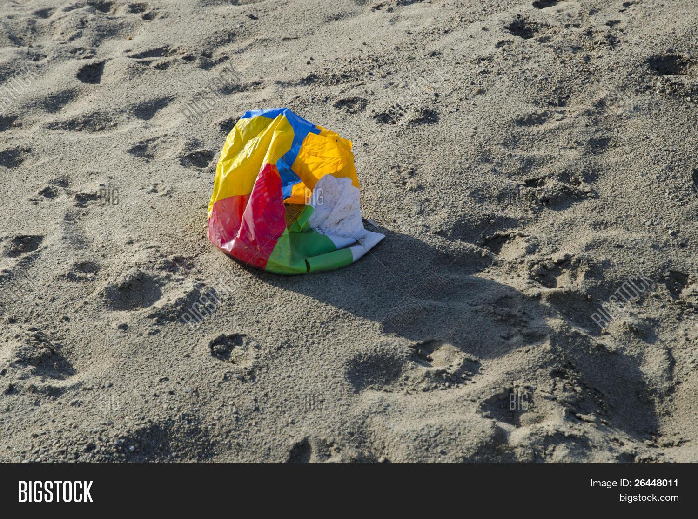 Deflated Beach Ball Image & Photo   Bigstock