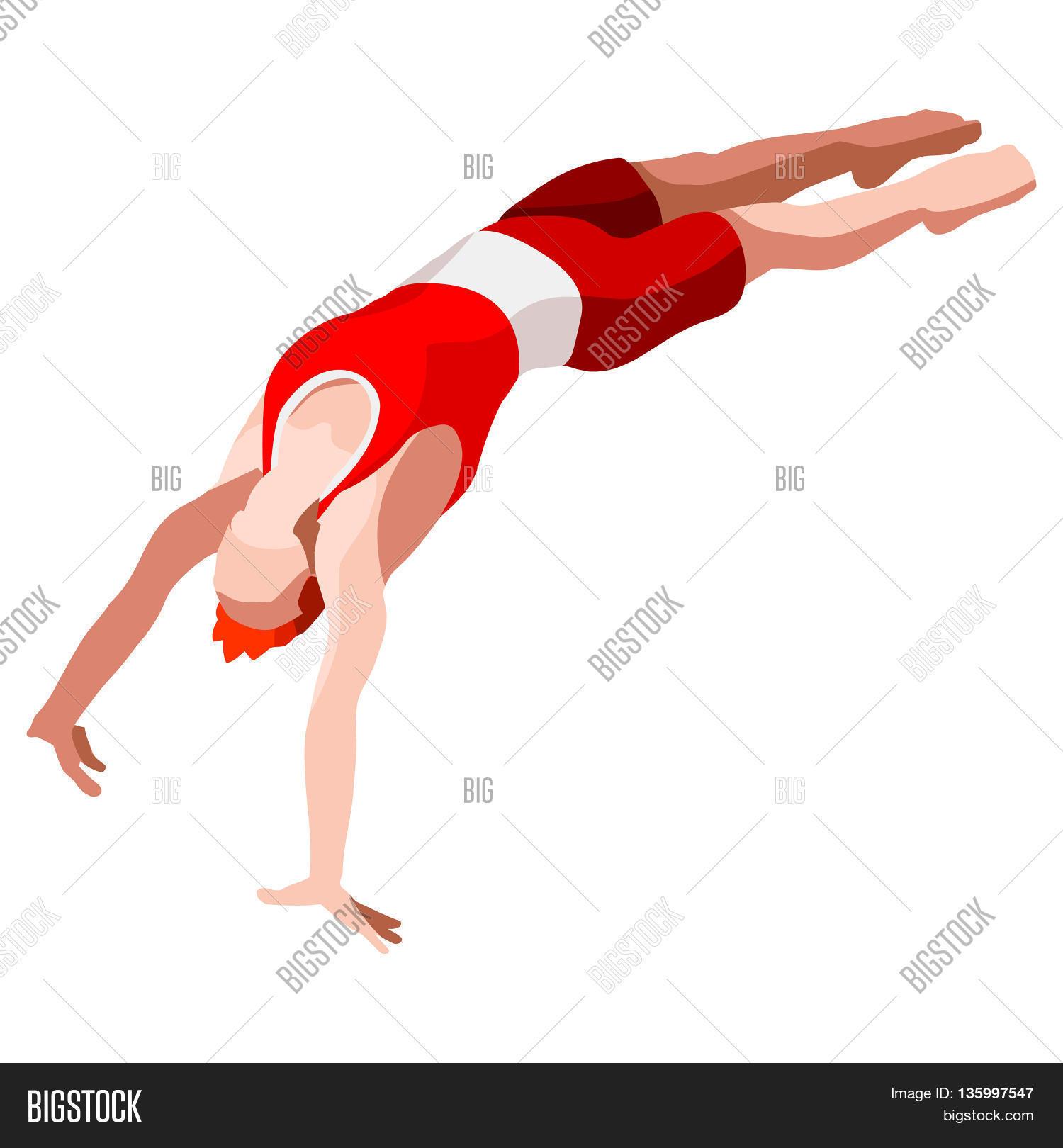 artistic gymnastics vector photo