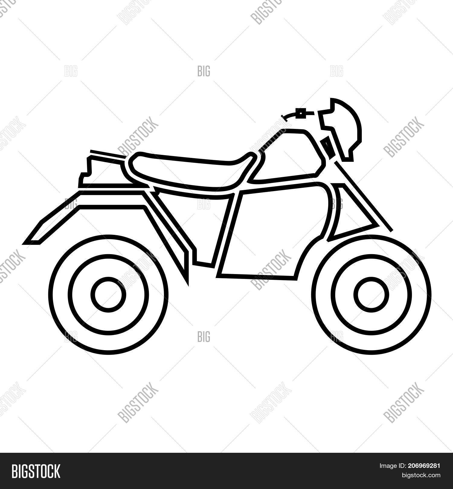 Atv Motorcycle On Vector Amp Photo Free Trial
