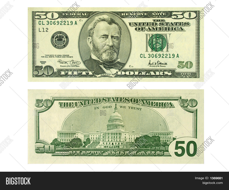 Banknote 50 Dollars Isolated On Image Amp Photo