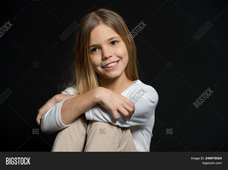 Cute Shy. Girl Long Image & Photo (Free Trial)   Bigstock