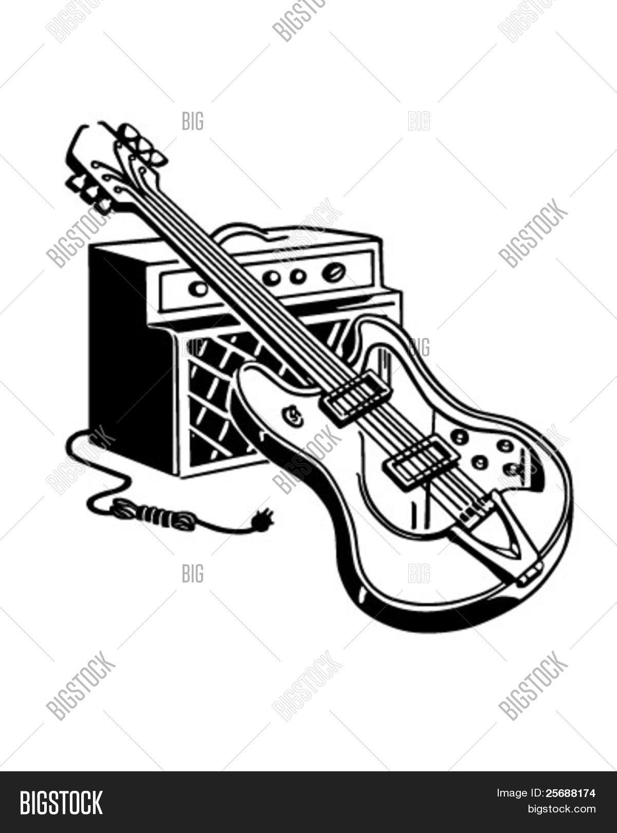 Electric Guitar Vector Amp Photo Free Trial