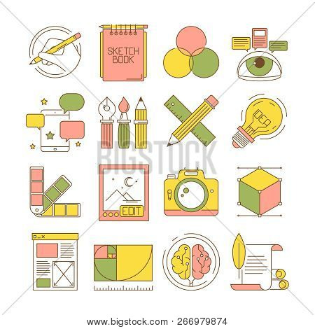 design process icons vector
