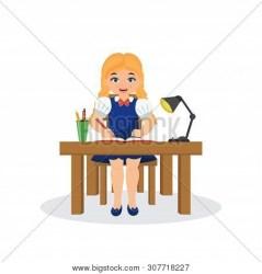 Cute Cartoon Girl Vector & Photo Free Trial Bigstock
