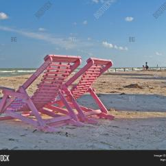 Pink Beach Chair Office Red Chairs Image Photo Free Trial Bigstock