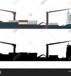 container ship vector [ 1500 x 1206 Pixel ]