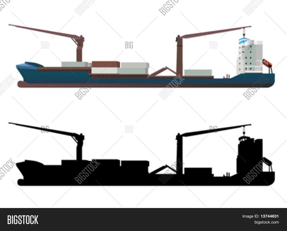 medium resolution of container ship vector