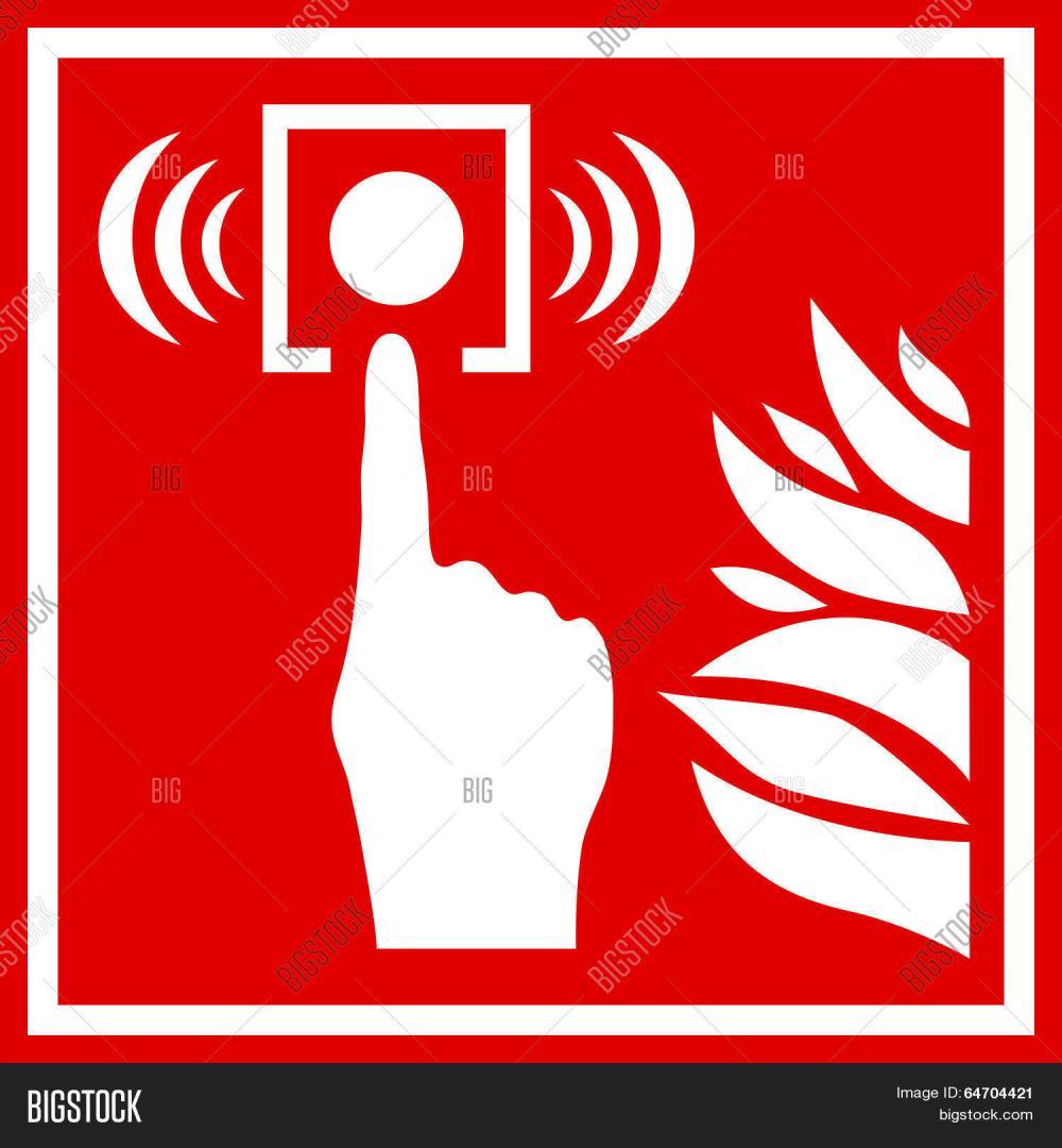 medium resolution of fire alarm red sign vector clip art