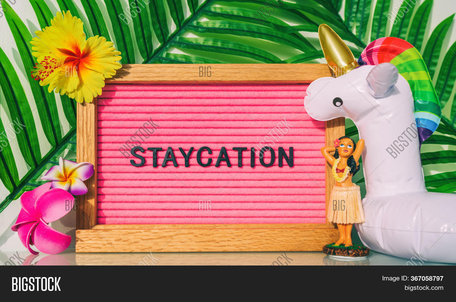 Staycation Sign Summer Image Photo Free Trial Bigstock