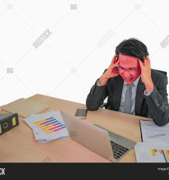 hot head business man very angry sitting on his desk on isolated background [ 1500 x 1246 Pixel ]