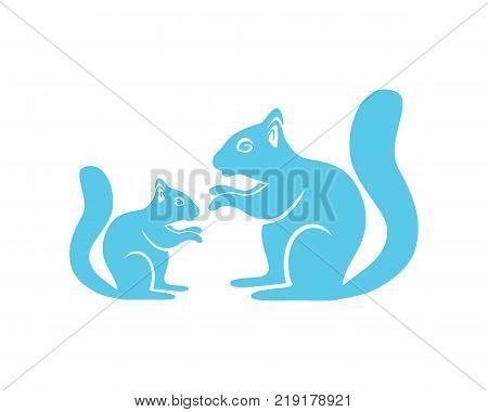 squirrel animals logo vector