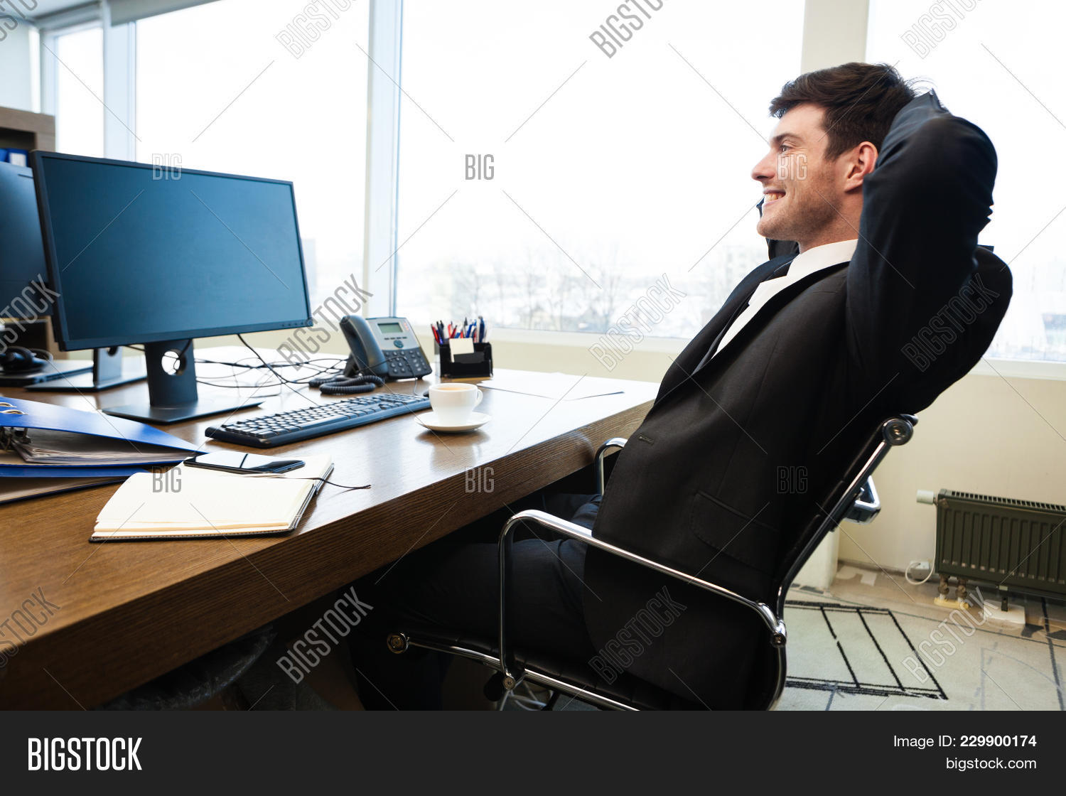 office chair leaning to one side posture pack seat wedge portrait young image and photo free trial bigstock
