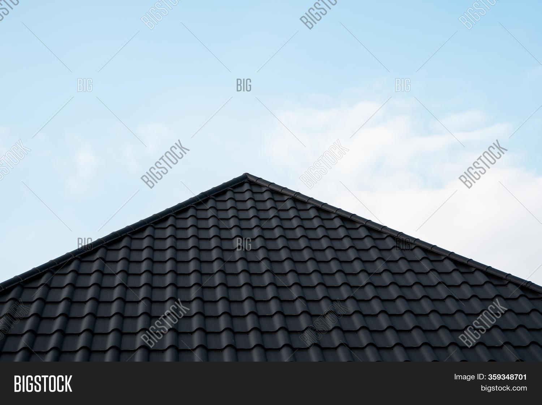 black metal tile roof image photo
