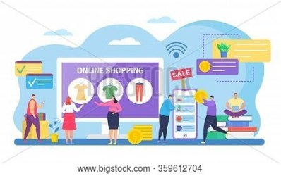 People Shopping Vector & Photo Free Trial Bigstock