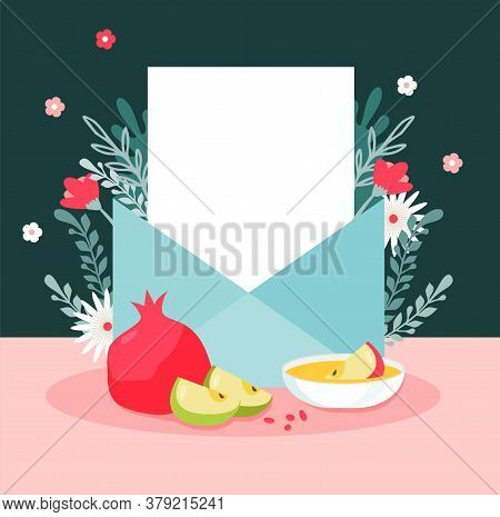 One of the most popular rosh hashanah rituals is a slice of apple dipped in honey, sometimes after saying a special prayer. Rosh Hashanah Jewish Vector Photo Free Trial Bigstock