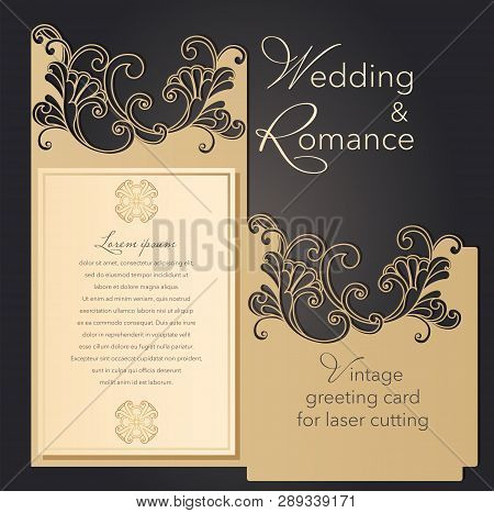 Use these free wedding invitation templates to create your very own custom invite that looks just like how you want. Laser Cut Wedding Vector Photo Free Trial Bigstock