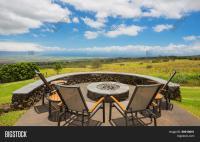 Luxury Backyard Fire Pit Image & Photo | Bigstock