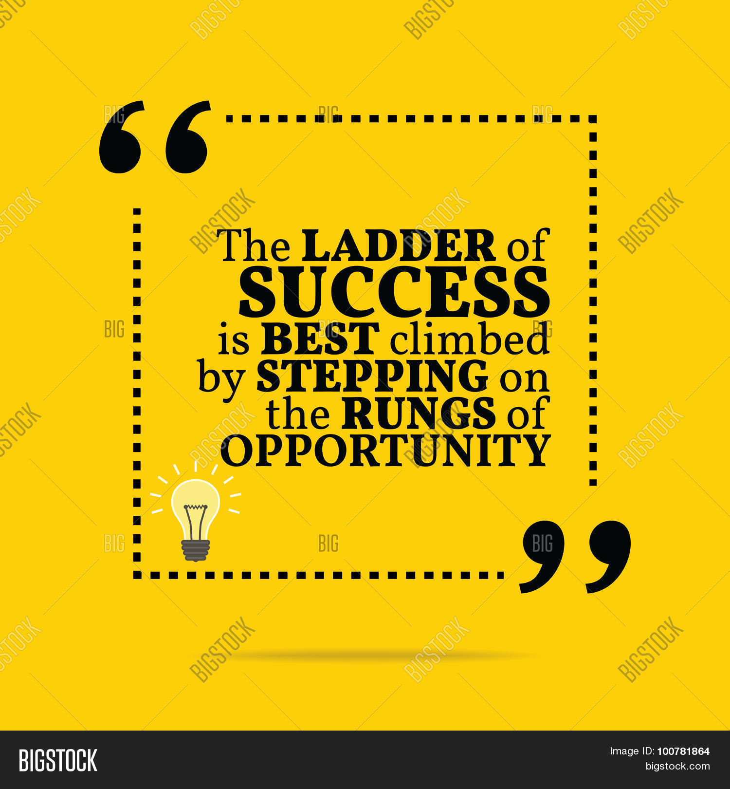 Inspirational Motivational Quote The Ladder Of Success Is