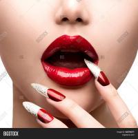 Fashion Model Girl Face. Makeup Image & Photo   Bigstock