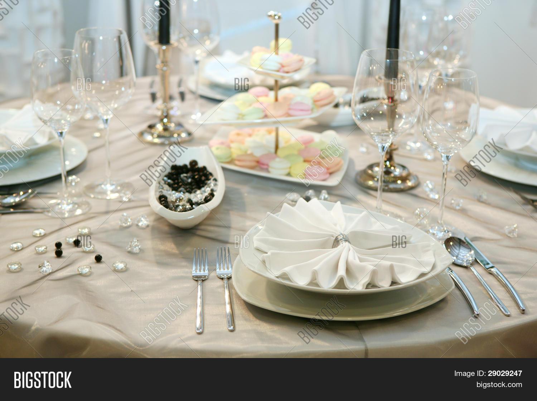 Table Setting Elegant Wedding Image & Photo