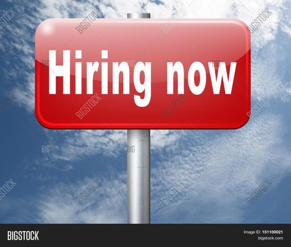 Hiring Job Opening Offer & Bigstock