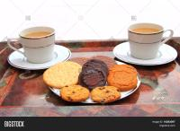 Two Cups of Tea with Biscuits Stock Photo & Stock Images ...