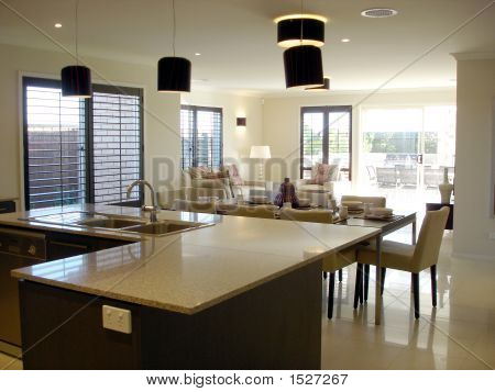 Open Plan Living Kitchen Dining Image  Photo  Bigstock