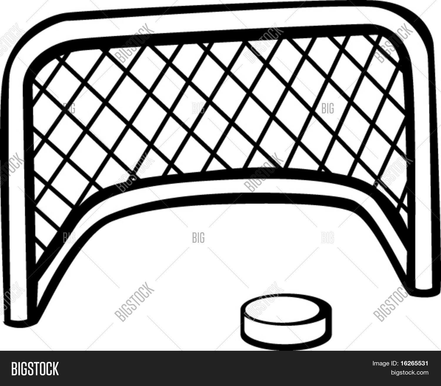 Hockey Puck Goal Net Vector Amp Photo