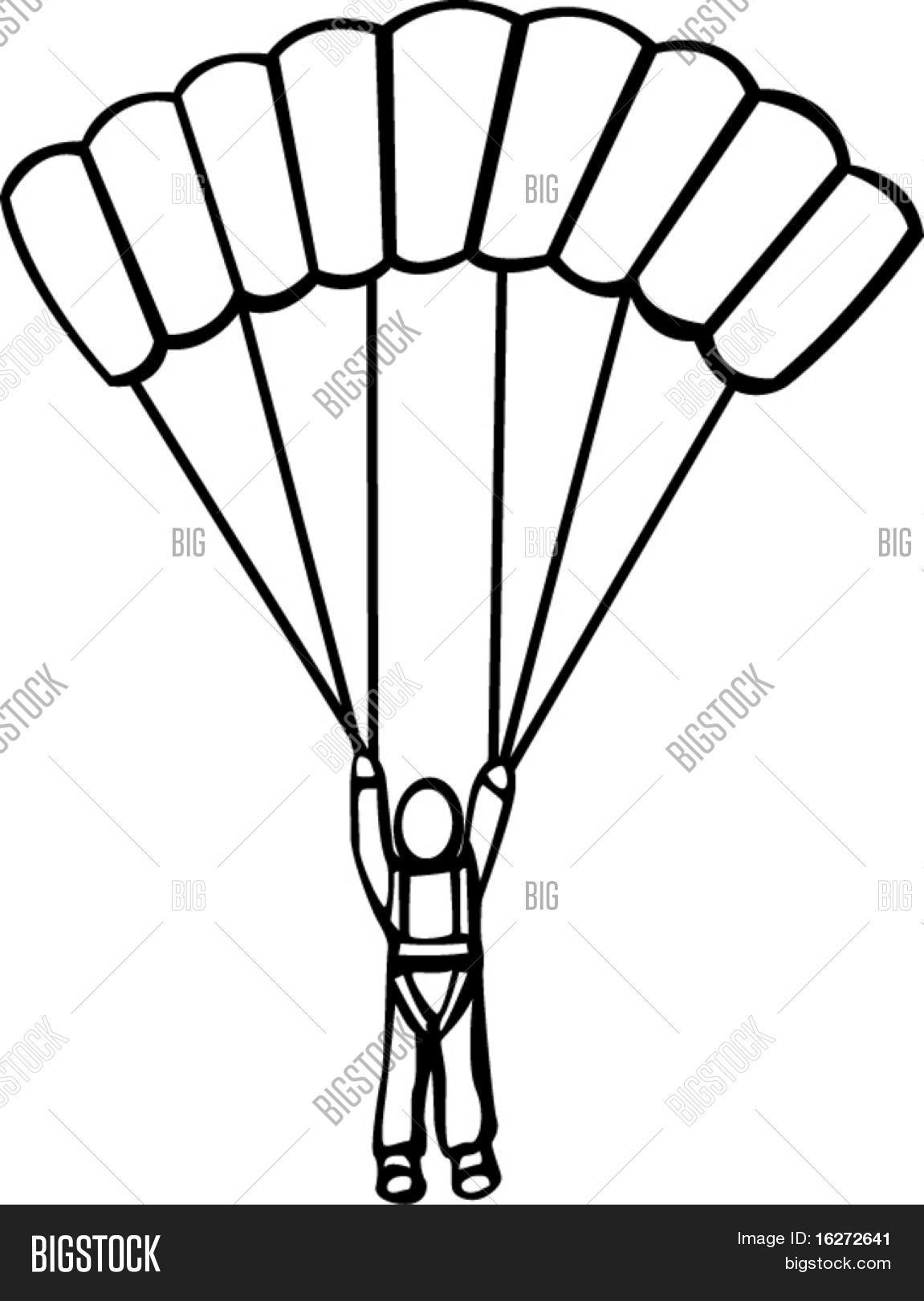 Man Parachute Vector Amp Photo