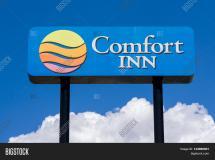 Comfort Inn Sign And Logo Stock &