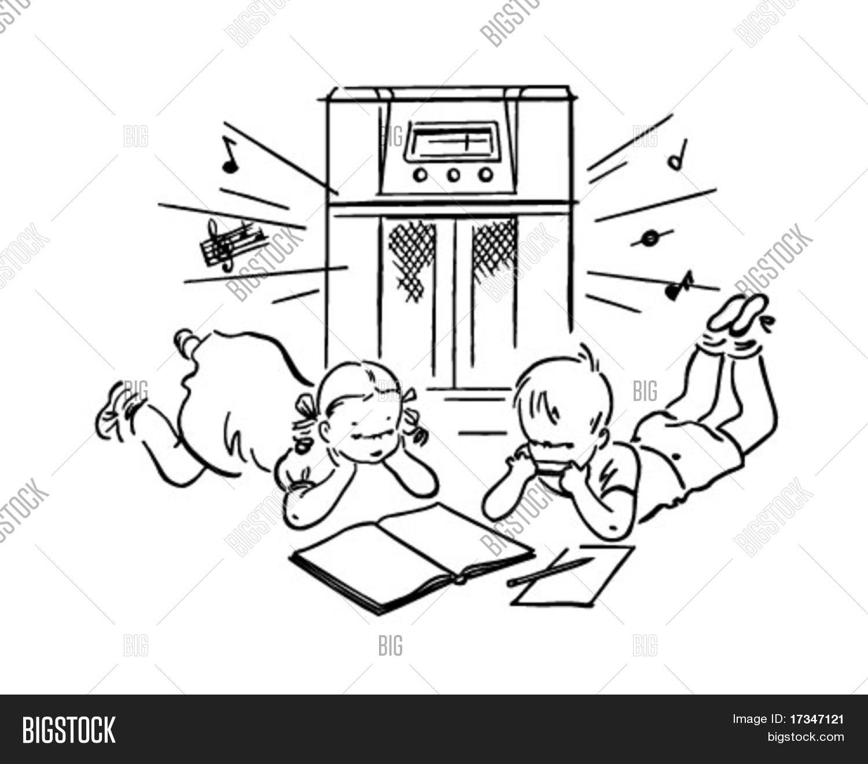 Children Listening Radio