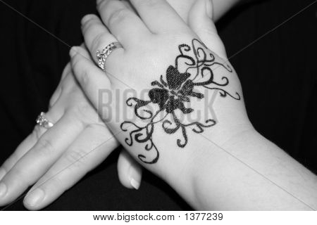 Stock photo : Tattoo Hands
