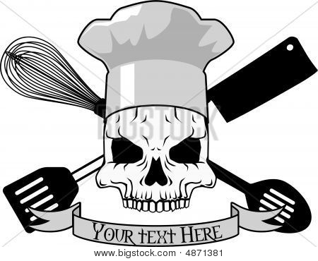 Stock vector : Death Chef Tattoo