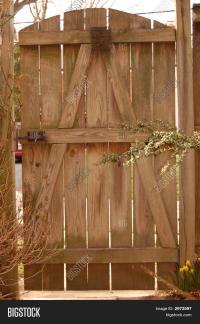Backyard Door Image & Photo   Bigstock