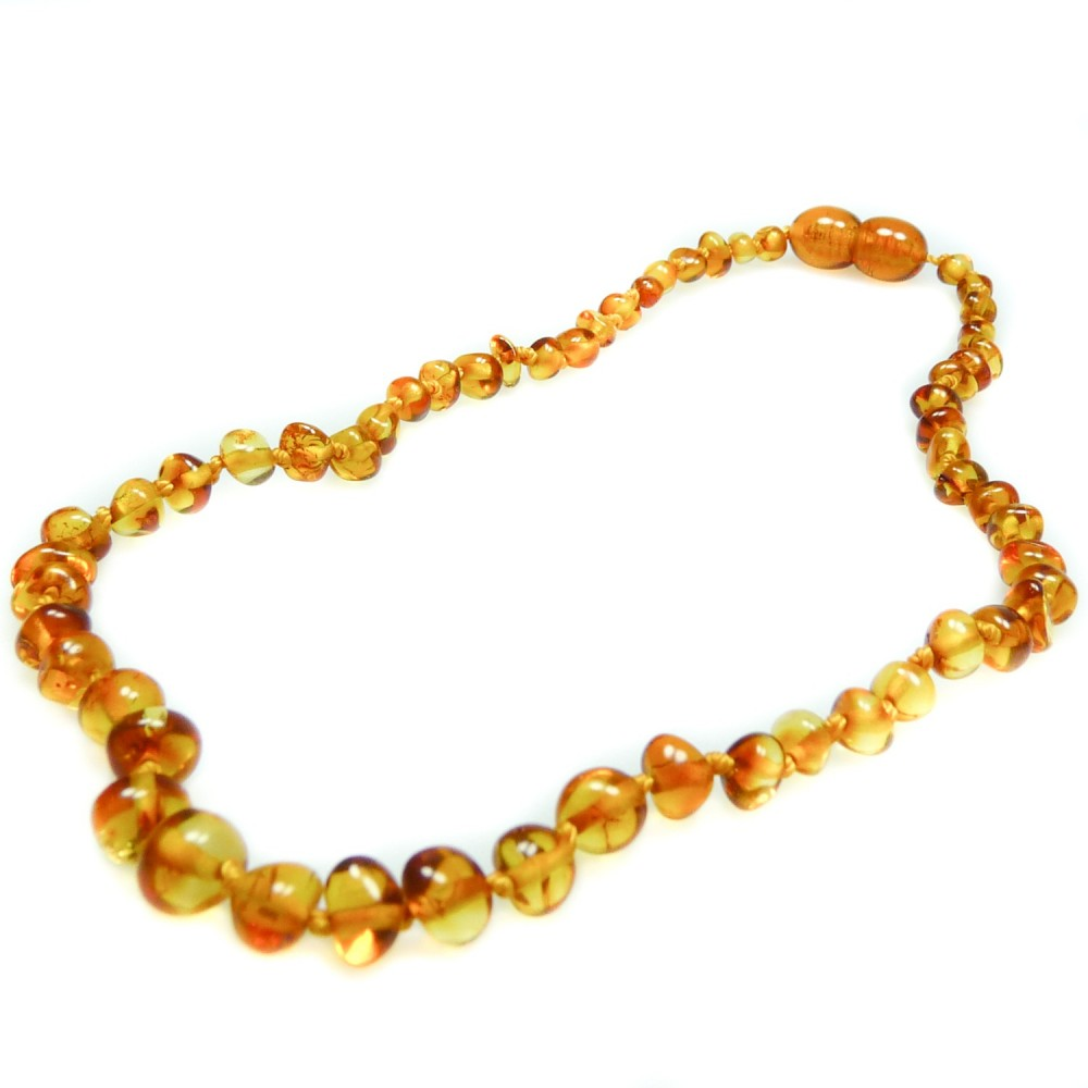 BabyBernsteinkette honigfarbene runde Perle  Bijoux dAmbre