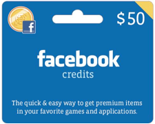 Are we counting down until we get Facebook credit gift cards like these in our birthday cards from Mom?