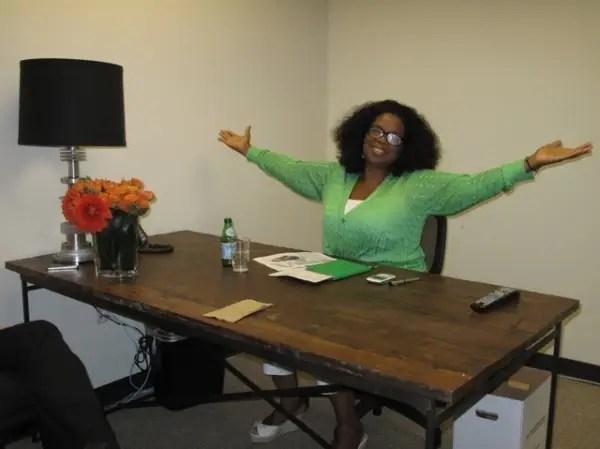 Oprah Tweets CEO Office Photo  Business Insider