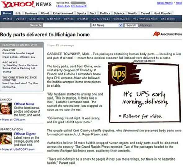 UPS goes the extra mile for its customers.