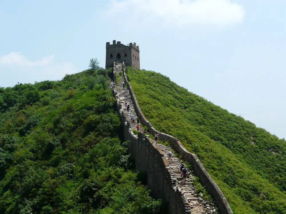 Hike along the unrestored section of the Great Wall of China.