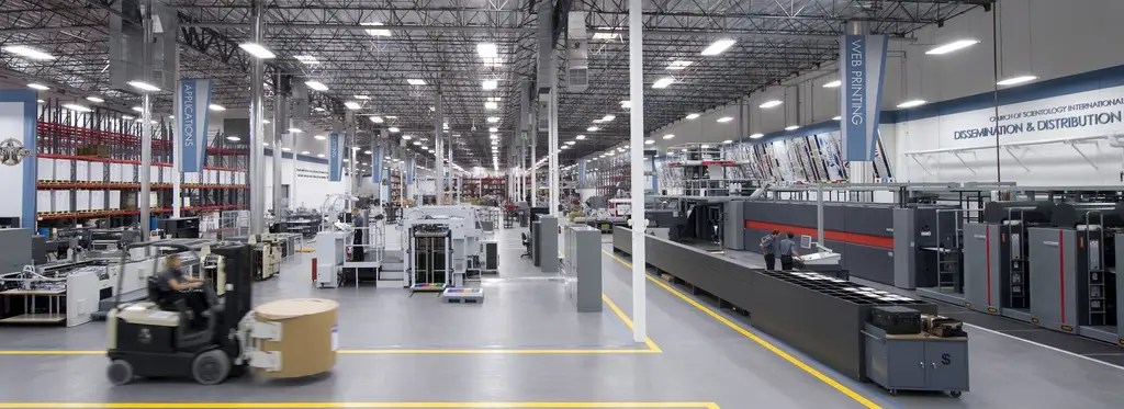 This 185,000-square-foot printing and distribution center in Los Angeles is staffed entirely by Church members.